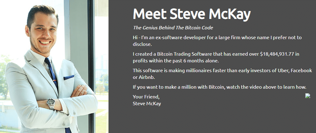 Bitcoin Code Founder & CEO Steve McKay